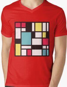 Mondrian Study III Mens V-Neck T-Shirt