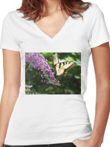 Butterfly05 Women's Fitted V-Neck T-Shirt