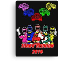 Turbo Reunion 2016 (Rangers and Zords) Canvas Print
