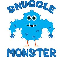 Snuggle Monster (Blue) Photographic Print