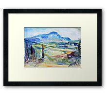 Cezanne's Mountain Framed Print