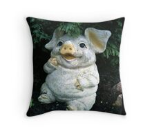 LITTLE MISS iPIGGY - SOLD (Not sold out) Throw Pillow