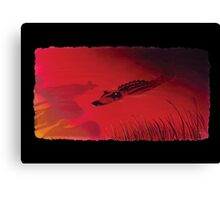 Crocodile Sunset Canvas Print