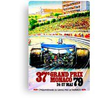 """MONACO"" Grand Prix Auto Racing Print Canvas Print"
