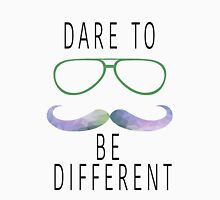 Dare To Be Different Hipster Geometric Mustache  Classic T-Shirt