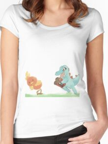 Totodile Run for KFC Women's Fitted Scoop T-Shirt