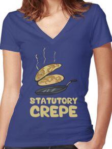 Statutory Crepe Women's Fitted V-Neck T-Shirt