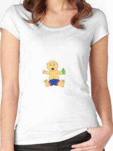 baby boy Women's Fitted Scoop T-Shirt