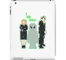 the xfiles belive it or not 8bit iPad Case/Skin