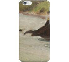 Cliff top view of Sharkham Point. iPhone Case/Skin