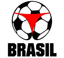 Brasil football (Soccer) & Thong Photographic Print