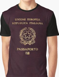 Italian Passport Vintage Graphic T-Shirt