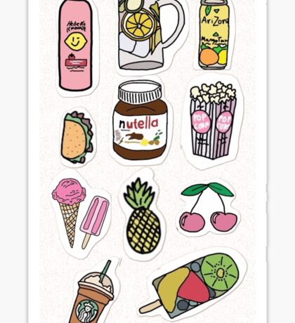 food and drink sticker pack Sticker