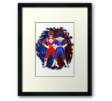 Its Morphin Time - Rocky's Rangers Framed Print