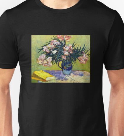 'Still Life with Oleander' by Vincent Van Gogh (Reproduction) Unisex T-Shirt