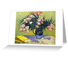 'Still Life with Oleander' by Vincent Van Gogh (Reproduction) Greeting Card