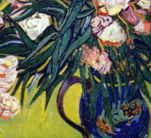'Still Life with Oleander' by Vincent Van Gogh (Reproduction) Sticker