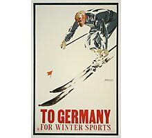 To Germany for Winter Sports Photographic Print