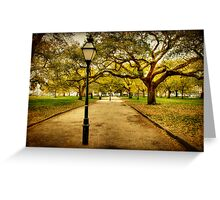 A Walk in the Park: Charleston, SC Greeting Card