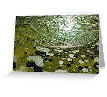 The magic water, green Greeting Card