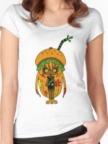 Tangerine Burger by Lolita Tequila Women's Fitted Scoop T-Shirt