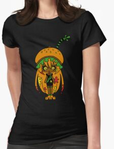 Tangerine Burger by Lolita Tequila Womens Fitted T-Shirt