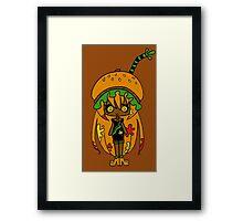 Tangerine Burger by Lolita Tequila Framed Print