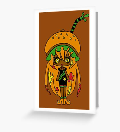 Tangerine Burger by Lolita Tequila Greeting Card