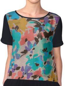 Graphic Flower Pattern II Chiffon Top