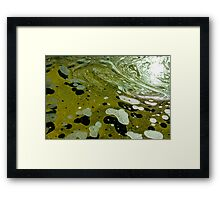 The magic water, green Framed Print