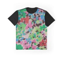 Graphic Flower Pattern V Graphic T-Shirt