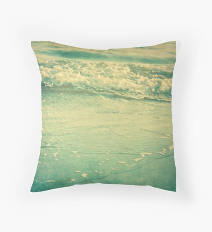 Tranquil Surf Throw Pillow