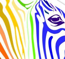 Zebra, Rainbow Zebra Sticker