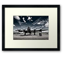 'Just Jane' Lancaster Bomber Framed Print