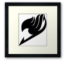 Fairy Tail (Black) Framed Print