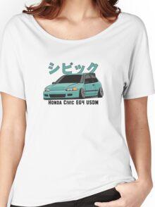 Honda Civic Hatchback on DropMode (aquamarine) Women's Relaxed Fit T-Shirt
