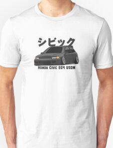 Honda Civic Hatchback on DropMode (black) Unisex T-Shirt