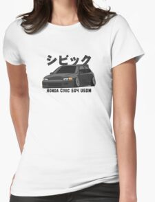 Honda Civic Hatchback on DropMode (black) Womens Fitted T-Shirt