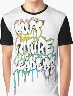 Our Future Leaders Graffiti Rainbow Graphic T-Shirt