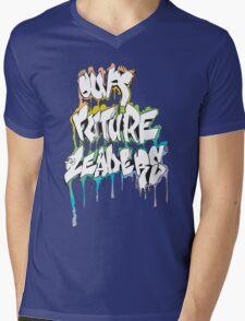 Our Future Leaders Graffiti Rainbow Mens V-Neck T-Shirt