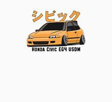 Honda Civic Hatchback on DropMode (yellow) Unisex T-Shirt
