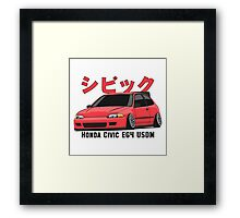 Honda Civic Hatchback on DropMode (pink) Framed Print