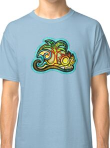 Rio de Janeiro, Brazil, Waves, Palm, Sun Classic T-Shirt