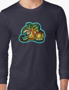 Rio de Janeiro, Brazil, Waves, Palm, Sun Long Sleeve T-Shirt