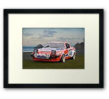 1976 Triumph TR7 V8 Rally Car Framed Print