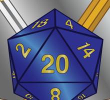 Role Player Blue d20 Crest Sticker Sticker