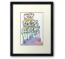 Our Future Leaders Rainbow Eyes Framed Print