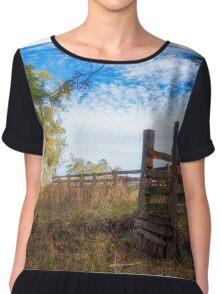 Cattleyard Country Chiffon Top