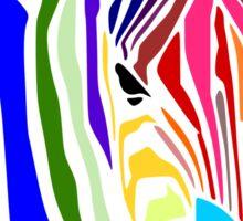 Zebra; Regenbogen Zebra Sticker