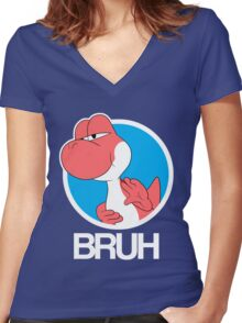 Red Yoshi Women's Fitted V-Neck T-Shirt